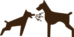吠える犬をを飼い主が抑えられない